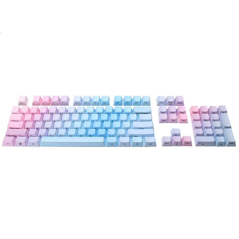 104 Keys PBT Keycaps Side Printed Rainbow OEM Profile Thick Mechanical Keyboard Key Caps for Cherry MX Switches for FILCO