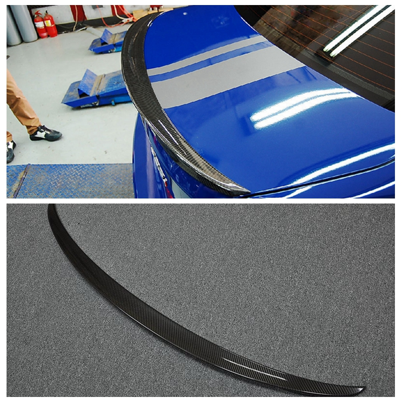 F30 Performance style carbon fiber rear spoiler car trunk lip auto boot wing spoiler for BMW F30 car accessories car styling carbon fiber car rear bumper extension lip spoiler diffuser for bmw x6 e71 e72 2008 2014 xdrive 35i 50i black frp