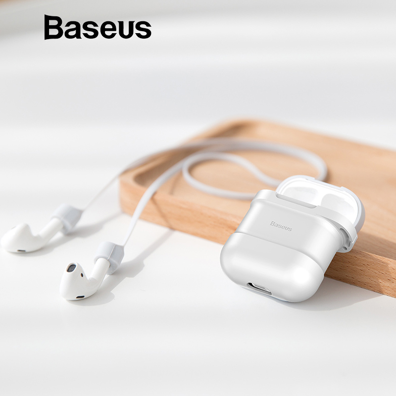 Baseus Silicone Protective Case For Airpods With Anti Lost Magnetic Rope ,Protect Kit Support Charging For Airpods Air Pod Strap цена