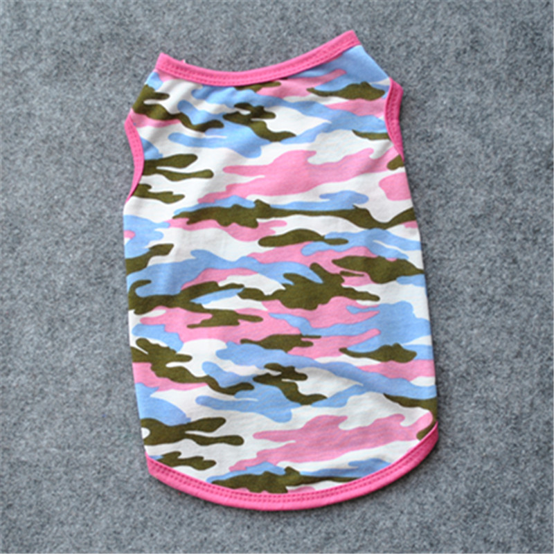 Pure Cotton Camouflage T Shirt Pug Dog Clothes Small Dog Newest  Shirt Military Dog Cat Clothes Chihuahua Costume Yorkshire E