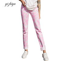 Spring Autumn Jeans Woman Vadim 2017 New European And American Wind Fashion Relaxed Loose Denim Printing