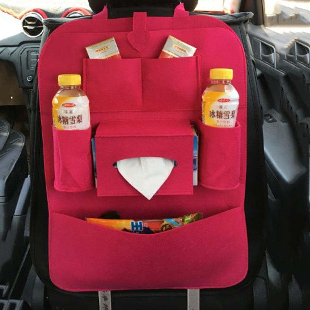Car Backseat Bag High-grade Blankets Seat Back Storage Organizer Travel Stowing Tidying Bags Car Interior Accessories