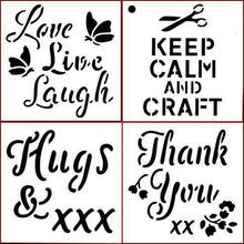 Thank You Hugs Love Keep Calm And Craft Plastic Stencil for DIY Scrapbooking Embossing Paper Cards Crafts Templates 2019 New