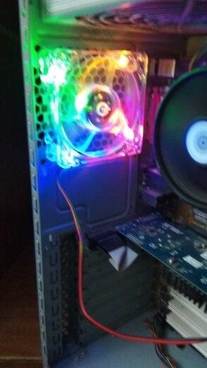 pc computer fan case cooling fan unit fan 8025 8cm with  LED lights  chassis fan  80*80*25