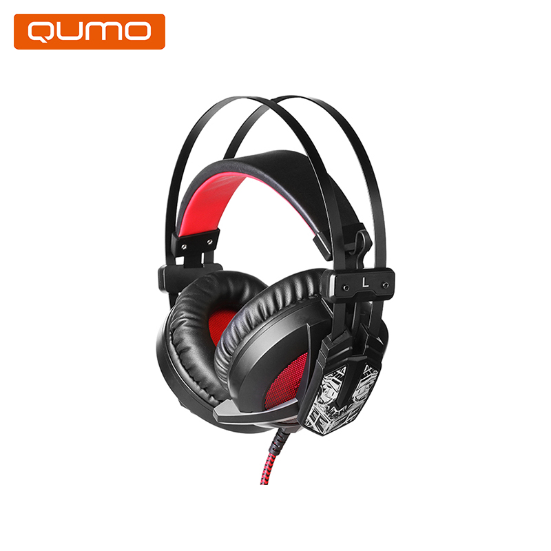 Gaming headset Qumo Warlock GHS008 hl good quality original wireless headset bluetooth headphone headband headset with fm tf led indicators for iphone cell phone