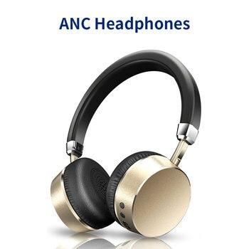 Meidong E6 activa de ruido cancelación de auriculares Bluetooth inalámbrico auriculares con micrófono para teléfono Bluetooth auriculares