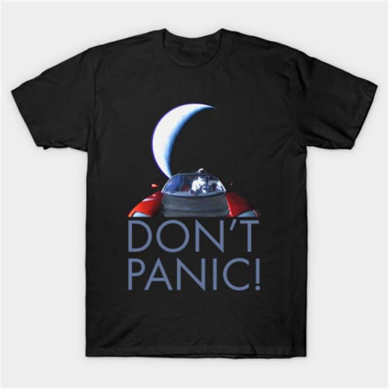 Shirt Cotton Hight Quality T Shirt Broadcloth Starman DonT Panic Short O-Neck T Shirt For Men