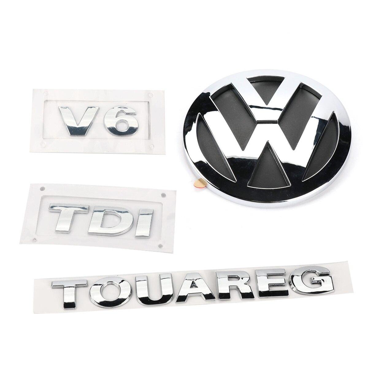 4 قطعة الخلفية شارة التمهيد كروم شعار V6 TDI طوارق ل VW Volkswagen طوارق 2003-2010 7L6 853 630 A