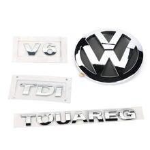 4 шт Задняя эмблема v6 tdi 140 мм для vw volkswagen touareg