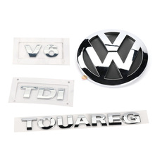 4pcs Rear Badge Boot Chrome Emblem V6 TDI TOUAREG for VW Touareg 2003-2010 7L6 853 630 A