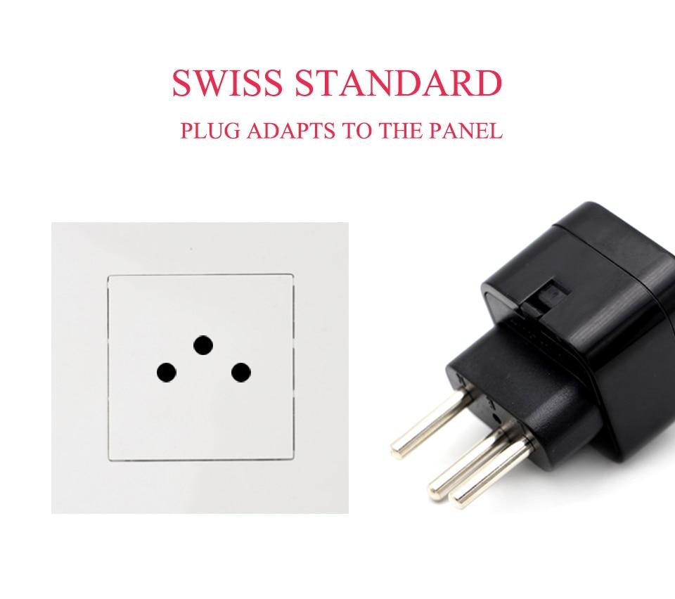 USAUUKEU to Swiss Adaptor Swiss plug Travel Converter Adapter Household Plugs Power Adapter charger Swiss tourism conversion (2)