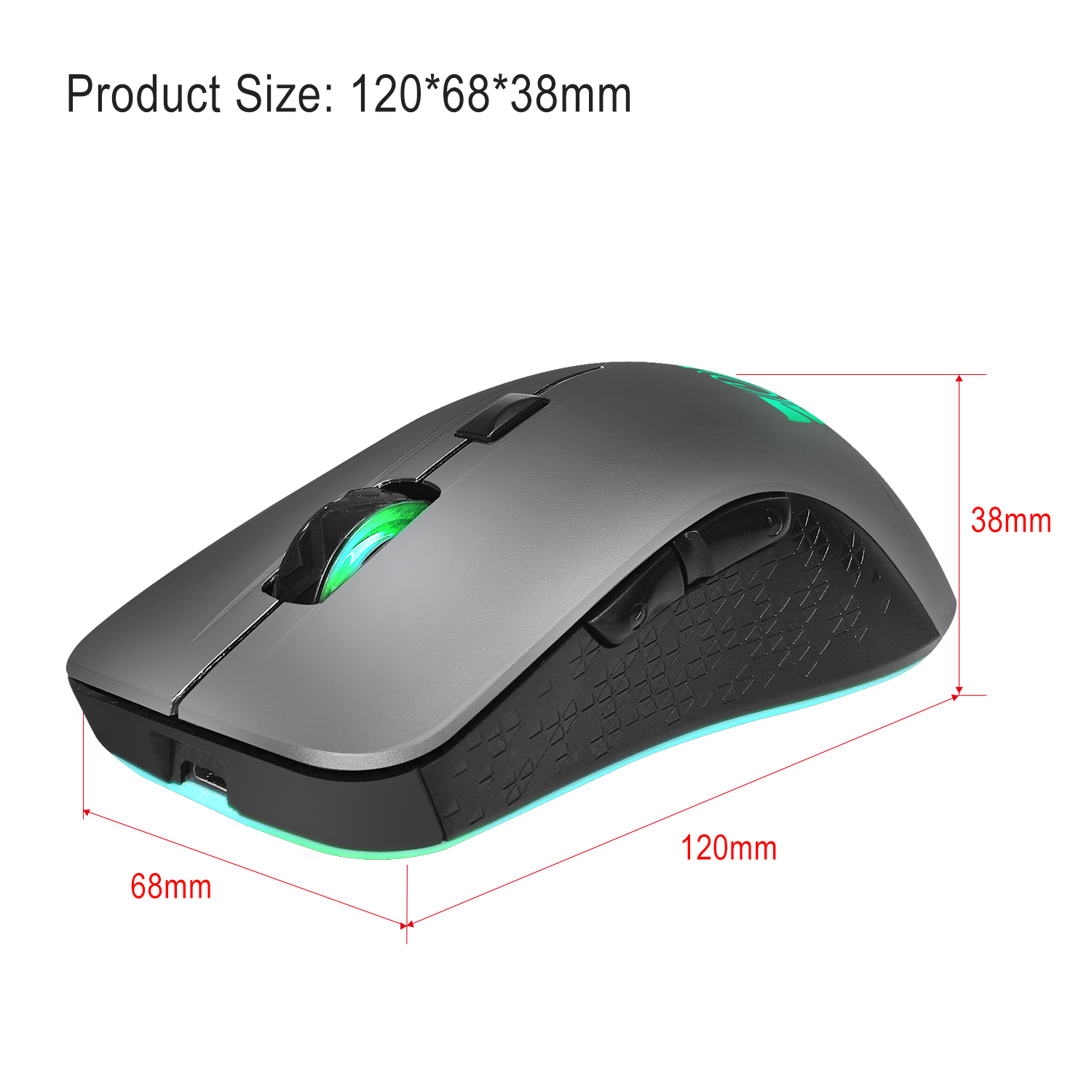 0c3c6a34ee6 2019 ZERODATE X90 USB 2.4GHz Wireless Mouse Colorful Breathing ...