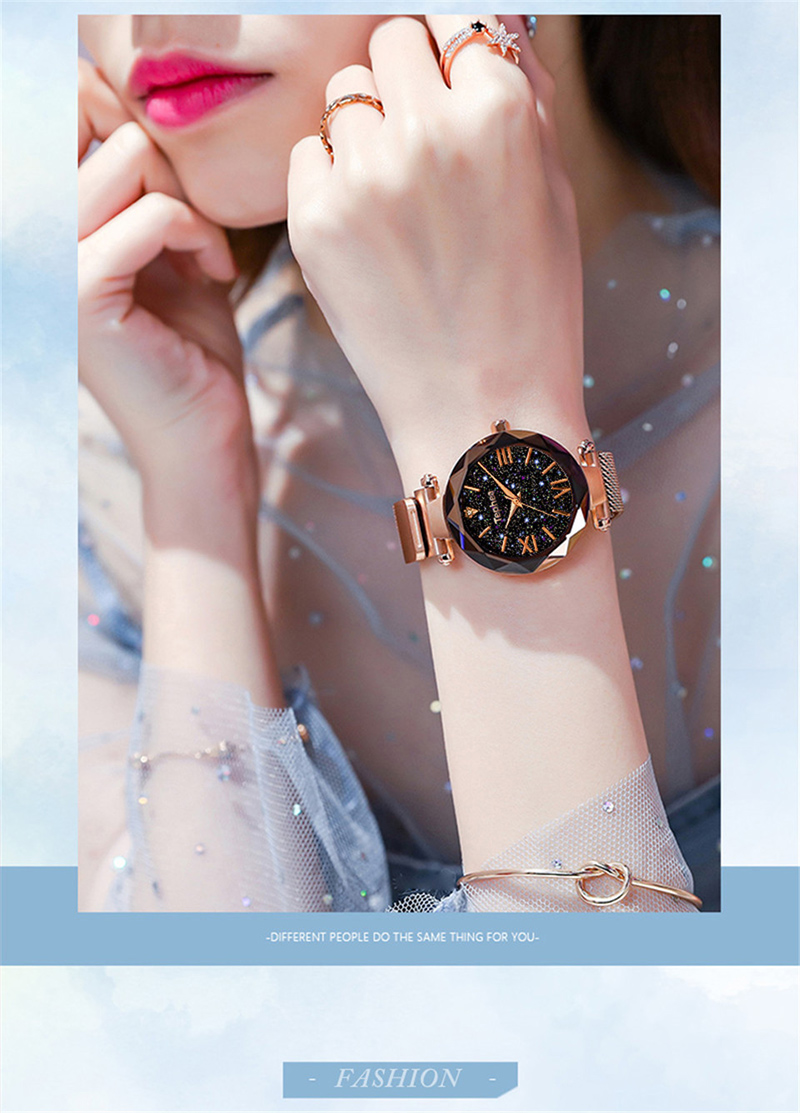 Luxury Women Watches Magnetic Starry Sky Female Clock Quartz Wristwatch Fashion Ladies Wrist Watch reloj mujer relogio feminino (3)