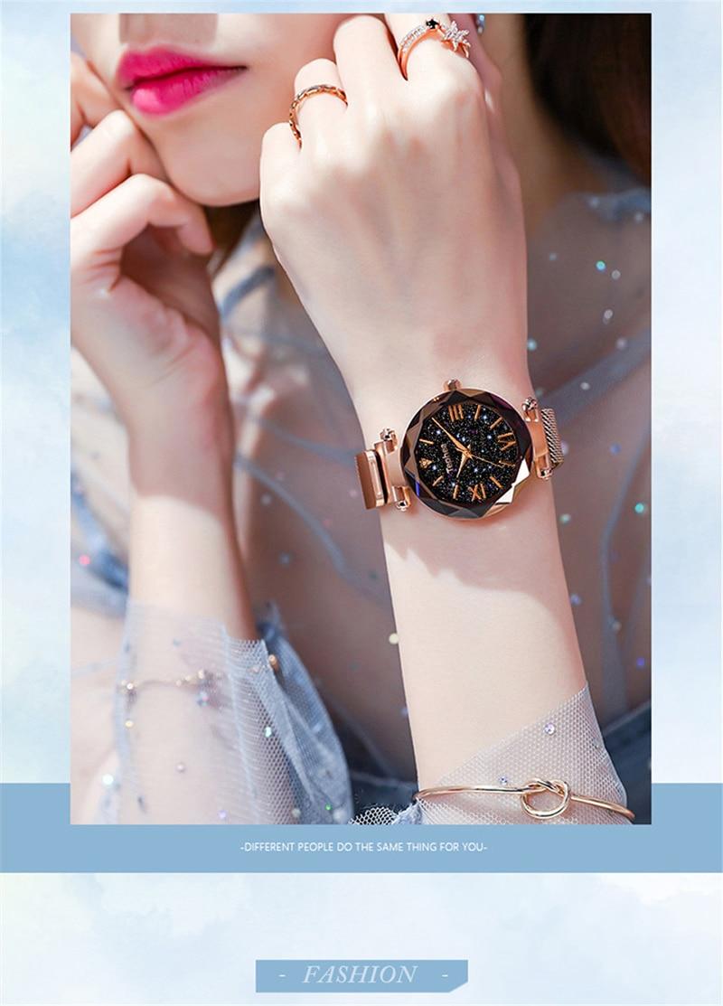 Luxury Women Watches Magnetic Starry Sky Female Clock Quartz Wristwatch Fashion Ladies Wrist Watch reloj mujer relogio feminino (3)