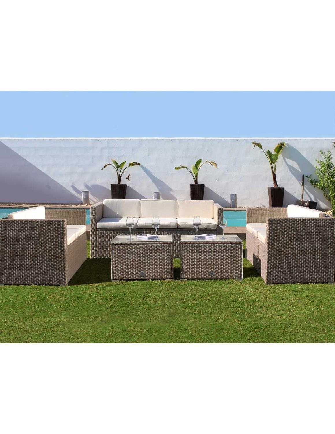 KieferGarden. LOS ANGELES 9. Shipping from Spain. Material Rattan. Conjunto de sofas. Furniture outside.|Garden Sofas| |  - title=