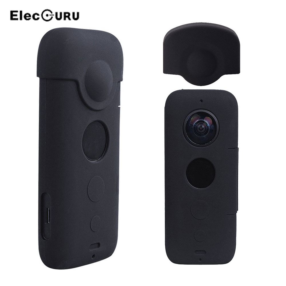 For Insta360 One X Silicone Case Lens Protector Anti-Scratch/Dust Shockproof Protective Cover Insta360 Action Camera Accessories