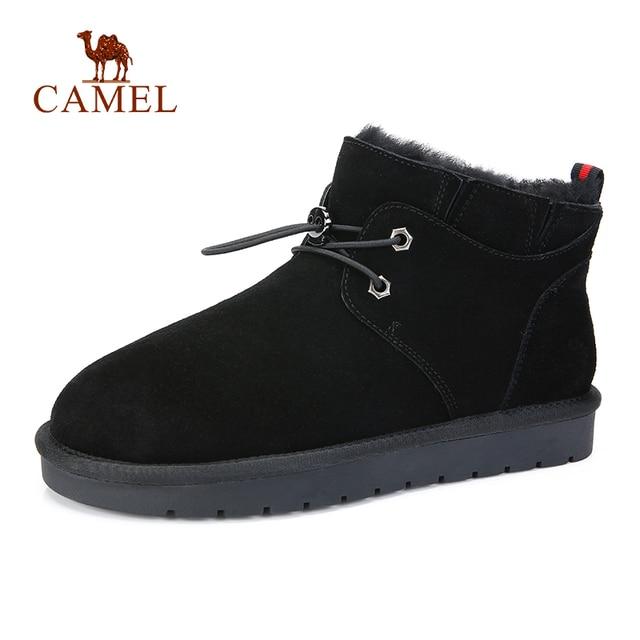 € 53.21 |Botas de nieve cálidas de invierno para hombre nuevas CAMEL con tubo corto de piel de algodón inferior antideslizante para hombre Botas de