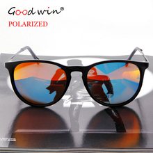 GOOD WIN Luxury Polarized Erika Women Sunglasses Vintage 4171 Black Frame Oculos De Sol Feminino Mirrored Coating