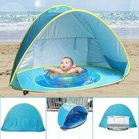 УФ-защита Sunshelter детская Палатка Ребенок Пляж Палатка Водонепроницаемый Всплывающие Тент Палатку детский Дом Шары Бассейн играть Палатки