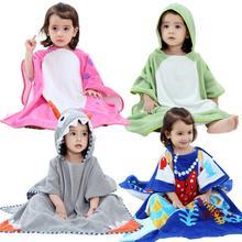 Пляжное полотенце для новорожденных; накидка с капюшоном и рисунком; детское банное полотенце для мальчиков и девочек; впитывающий халат; одежда для плавания; реквизит для фотосессии