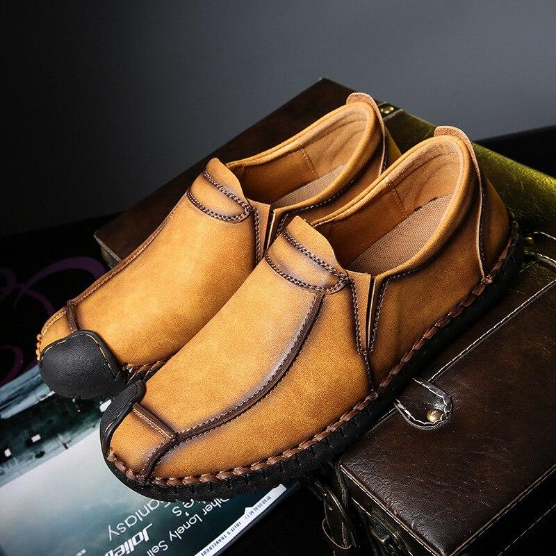 2018 Cuir Casual Mocassins Suded Hommes Conduite Ra Noir Modes En De Faux marron Male Foncé kaki Chaussures Souple 47 HHcr0v