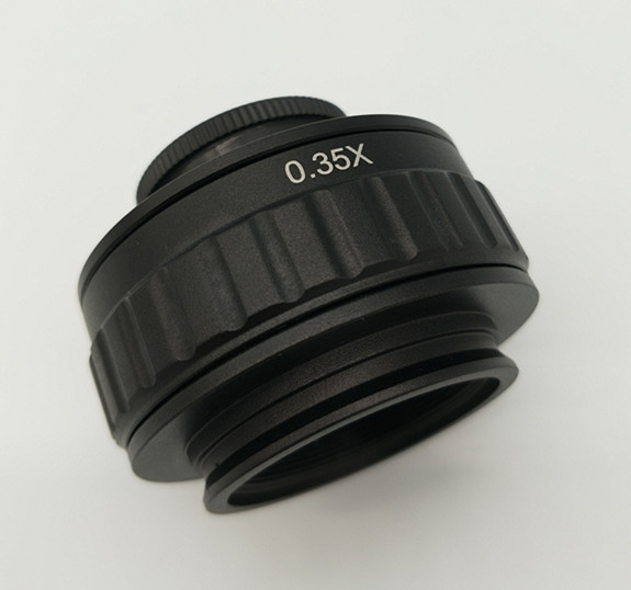 Free shipping Scientific Microscope camera C Mount Adapter lens 0 35X Microscope Adapter