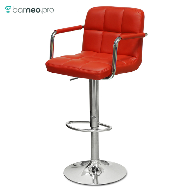 Astounding Aliexpress Com Buy 94385 Barneo N 69 Leather Kitchen Breakfast Bar Stool Swivel Bar Chair Red Color Free Shipping In Russia From Reliable Swivel Bar Short Links Chair Design For Home Short Linksinfo