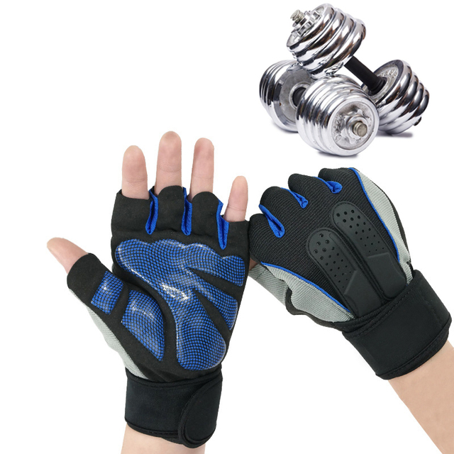 Two Tone Padded Gym Gloves 3 colors