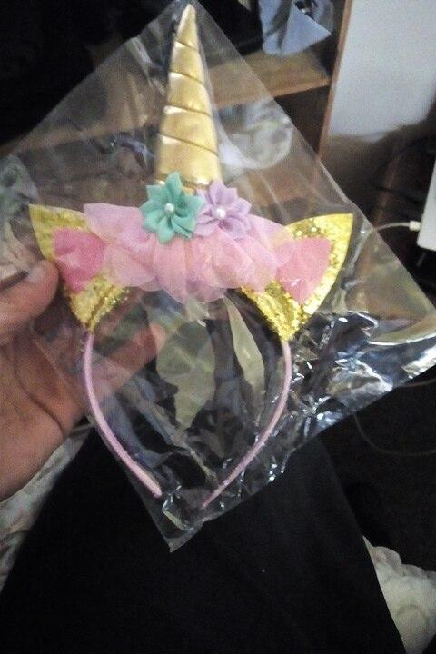 Unicorn Ribbon Hair Bow Headband Accessories photo review