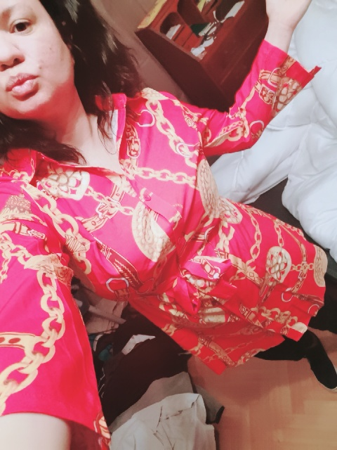 Sexy Middle Sleeve Chain Print Women Blouses And Tops Lapel Sashes Button Women Shirt Plus Size Top Blusas Roupa Feminina photo review