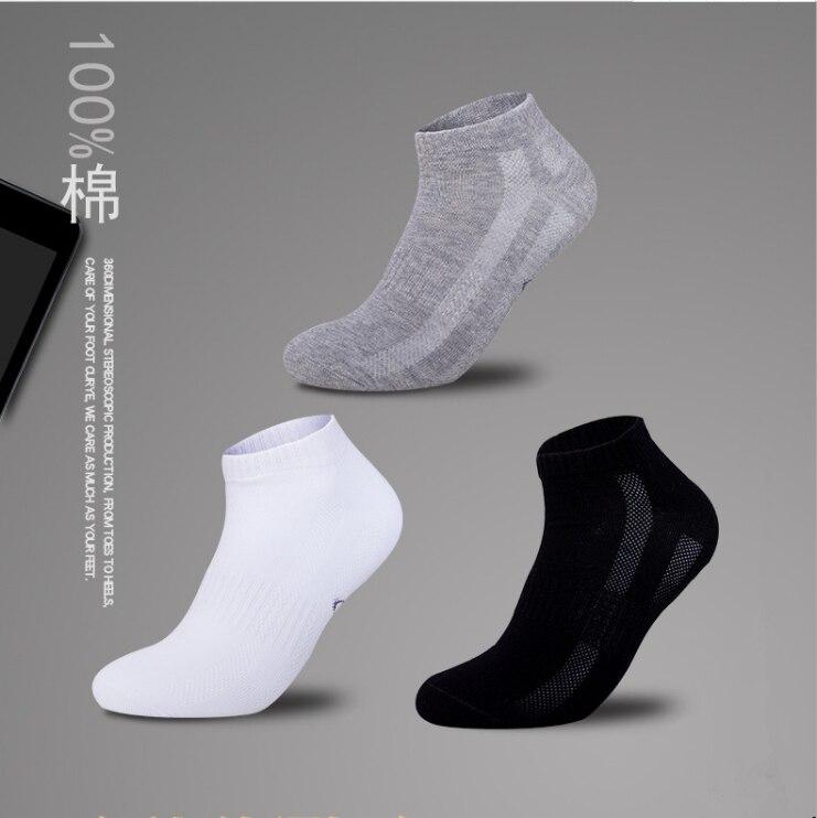 3pairs/Lot summer 2019 Men   socks   ankle cotton   socks   bussiness corap skarpetki meskie chaussette homme white sockken thin hosiery