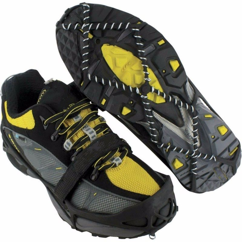 Anti-slip Ice Gripper Stainless Steel Spring Snow Crampons Traction Cleats Boot Tread Spikes Shoes Ice Grips Climb Hiking