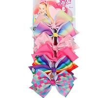 6pcs/set- Children Favorite Lovely Big Bow Hairpin With Different Colors Of One Set Girls Cute And Fashionable Hair Accessories все цены