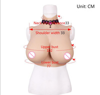 Food grade silicone E cup breast form with Liquid silicone filling Chest prosthesis for crossdresser fake boobs drag queen E CUP