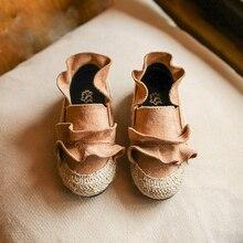Mode Enfants Chaussures Fleur Dentelle Automne Bébé Filles Chaussures Mocassins Slip On Casual Chaussures Respirant Enfants Chaussures Enfant Sneakers