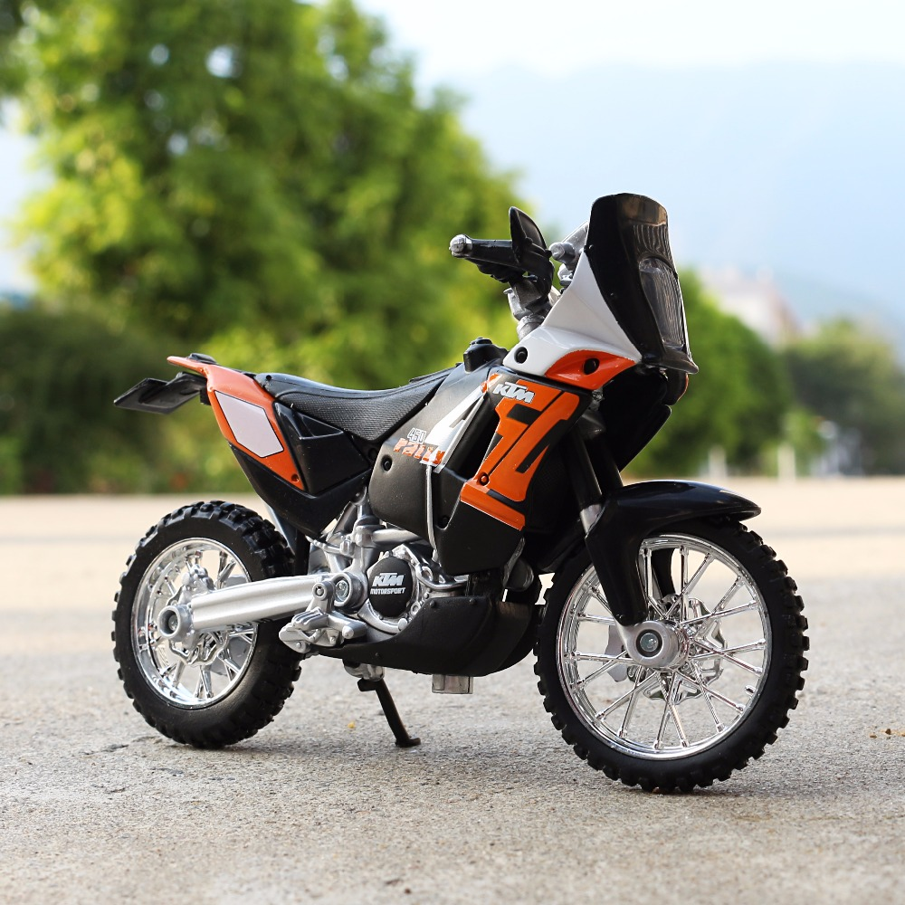 <font><b>1:18</b></font> Scale Maisto KTM 450 Rally Motorbike Race <font><b>Cars</b></font> Mini Motorcycle Vehicle <font><b>Models</b></font> Office Toys Gifts for Kids image