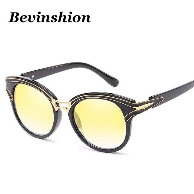 f51e3df65fedd0 Style coréen Ronde Dames lunettes de Soleil Femmes Couleur Aveugles Lunettes  Designer Miroir Revêtement Nuances Décision