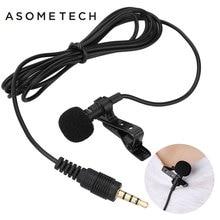 Мини 3.5 мм Jack микрофон петличный зажим для галстука Микрофоны microfono MIC говоря речи лекции микрофоны кабель для iPhone 5 5S 5 г 6 S