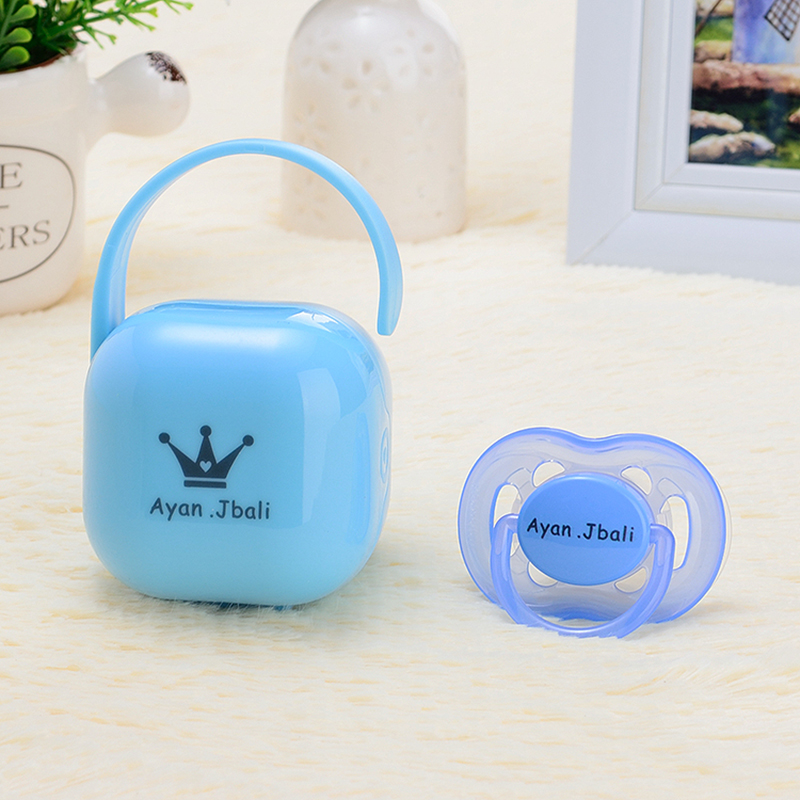 MIYOCAR any name text photo can make pacifier storage box Dustproof Soother Container travel safe and uniqu