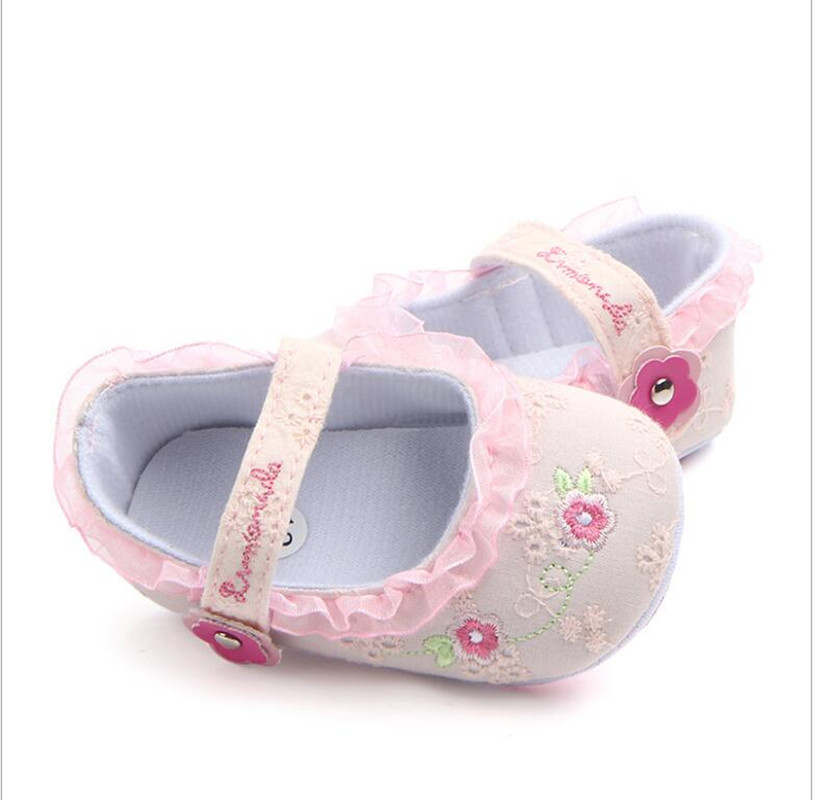 Toddler Dress Shoes | Flower Lace  Dress Shoes For Baby Girl Princess Shoes Toddler Dress Shoes Infant Crib Footwareshoes For 0  18 Months Babies