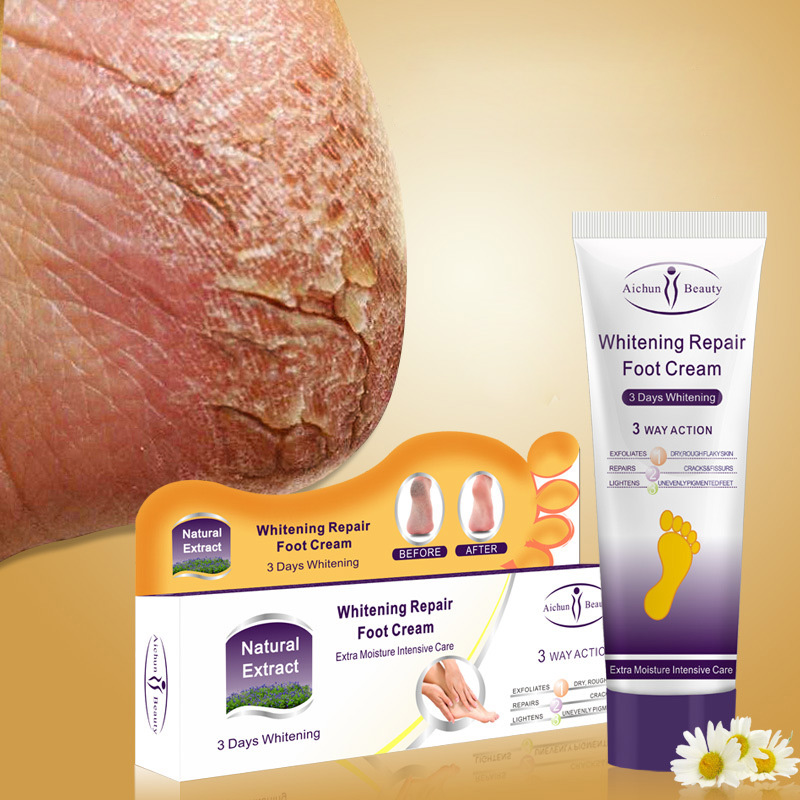 все цены на Aichun Crack Heel Cream Repair Anti Crack Whitening Cream Foot Peeling Cracked Hands Feet Dry Skin Moisturizing Foot Care онлайн