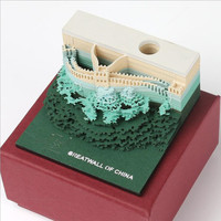 The Great Wall creative model note paper, Small Desktop Decoration, Japanese Architectural Model three-dimensional Note Paper