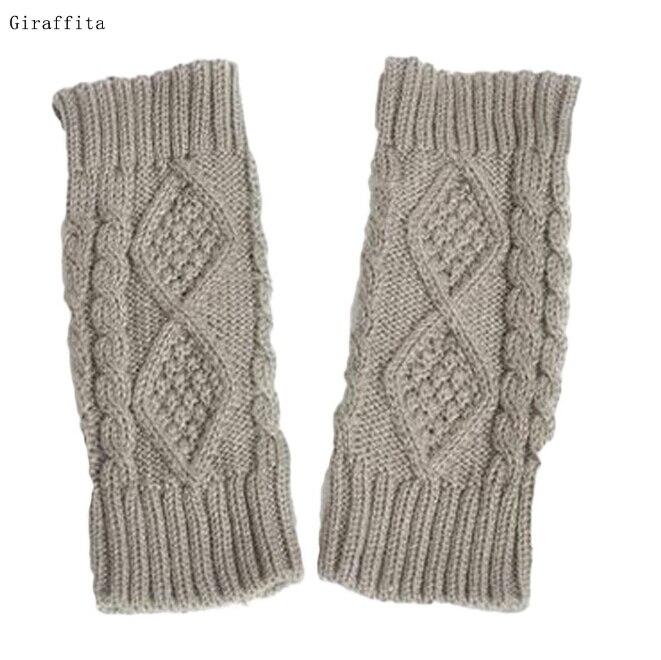 Damen-accessoires Diplomatisch 1 Para Warme Winter Handschuhe Frauen Doppelseitige Hanf Knitting Wolle Halbfingerhandschuhe Damen Handschuhe Halb-fing Liebt Handschuhe Durchblutung Aktivieren Und Sehnen Und Knochen StäRken
