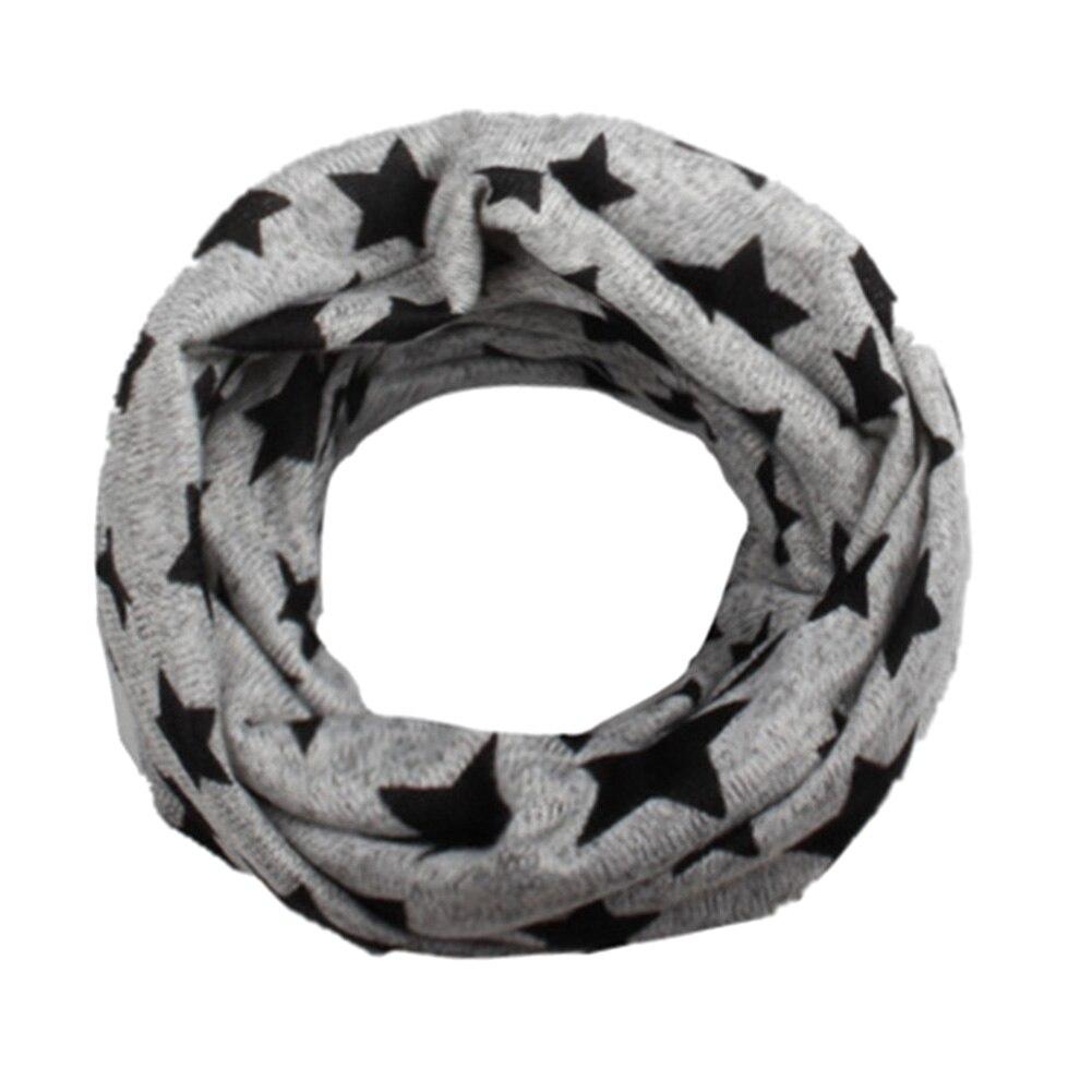 1 Stück Neue Mode Kinder Stern Druckschal Frühling Baumwolle Halstuch Jungen Mädchen Nette Pentagram Warme Schal Und Schals