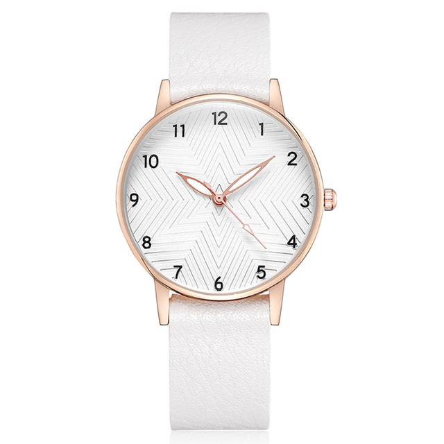 Small Simple White Watch Women Elegant Leather Female Clock Quartz Casual Ladies