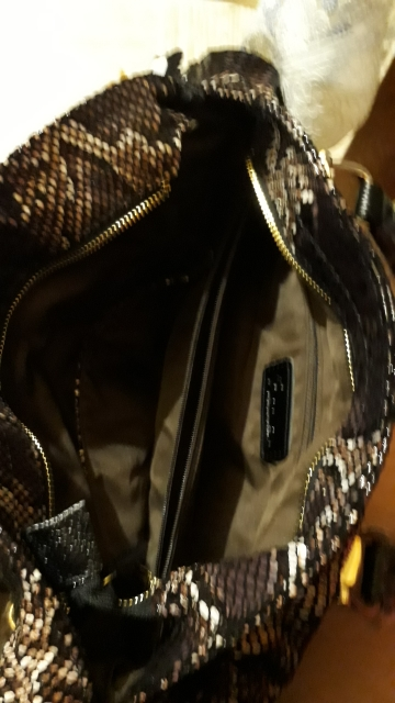 REALER brand women genuine leather tote bag female fashion serpentine prints leather handbags boston bag large shoulder bag photo review