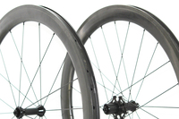 3K Braking Surface Carbon Wheels 60mm Clincher Road Bike Carbon Wheelset U Shape 25mm Width Cycle Rims