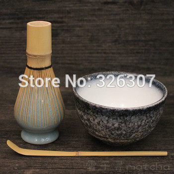 Japan handmade batidor matcha kit maccha whisk bowl tea set scoop Japanese green tea black lead 4-peice set ceremony chasen