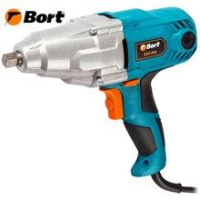 Гайковерт сетевой Bort BSR-900 (Мощность 900 Вт, крутящий момент до 350 Нм, скорость холостого хода 2300 об/мин, кейс и ударные головки)