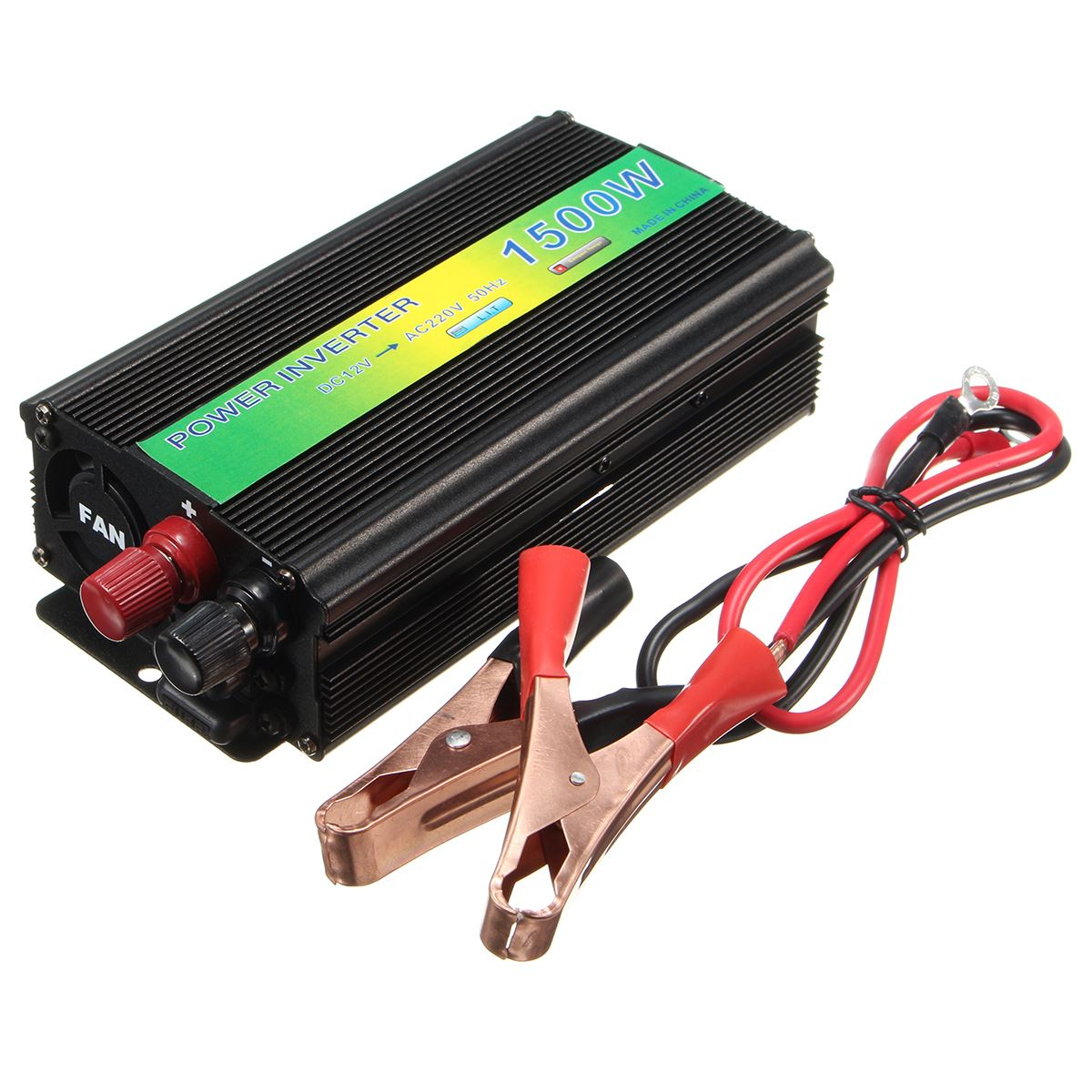 1500W Power Inverter DC 12V To AC 220V Modified Pure Sine Wave Converter USB Charger
